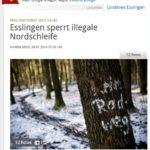 Stuttgarter-Nachrichten-Esslingen-sperrt-illegale-Nordschleife-20140129