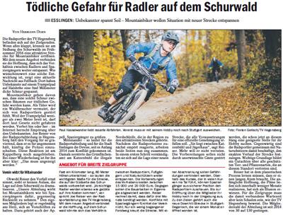 Tödliche Gefahr für Radler auf dem Schurwald