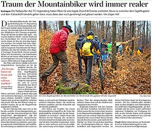 Traum der Mountainbiker wird immer realer