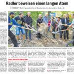 Esslinger Zeitung, 19.09.2016: Radler haben einen langen Atem