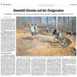 Esslinger Zeitung: 13. / 14. April 2017: Downhill-Strecke auf der Zielgeraden