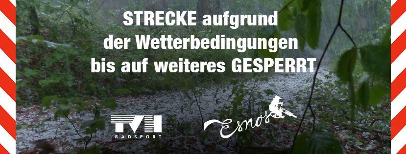 ESNOS Strecke aufgrund der Wetterbedingungen gesperrt